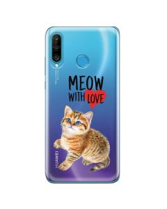 Husa Huawei P30 Lite Lemontti Silicon Art Meow With Love