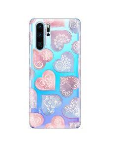 Husa Huawei P30 Pro Lemontti Silicon Art Hearts