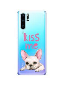 Husa Huawei P30 Pro Lemontti Silicon Art Pug Kiss
