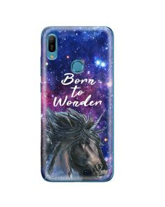Husa Huawei Y6 2019 Lemontti Silicon Art Born To Wonder