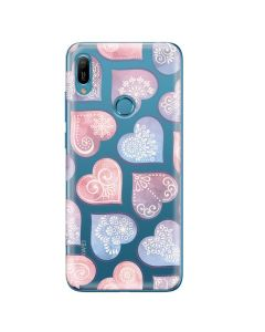 Husa Huawei Y6 2019 Lemontti Silicon Art Hearts