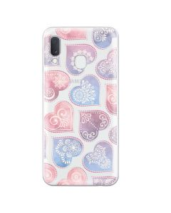 Husa Samsung Galaxy A20e Lemontti Silicon Art Hearts