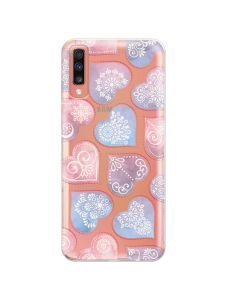 Husa Samsung Galaxy A70 Lemontti Silicon Art Hearts