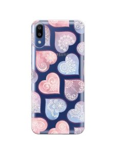 Husa Samsung Galaxy M10 Lemontti Silicon Art Hearts