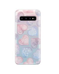 Husa Samsung Galaxy S10 G973 Lemontti Silicon Art Hearts