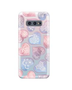 Husa Samsung Galaxy S10e G970 Lemontti Silicon Art Hearts