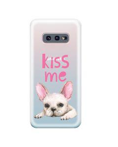 Husa Samsung Galaxy S10e G970 Lemontti Silicon Art Pug Kiss