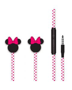Casti Jack 3.5mm Disney Minnie Matt Head 3D Pink