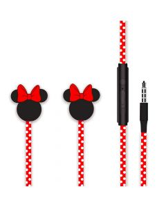 Casti Jack 3.5mm Disney Minnie Matt Head 3D Red