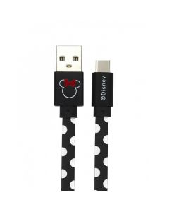 Cablu Disney USB Type-C Minnie Dots Black