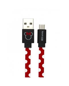 Cablu Disney USB MicroUSB Minnie Dots Red