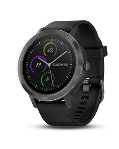 Smartwatch Garmin Vivoactive 3 HR, GPS, Silver, Silicone Black
