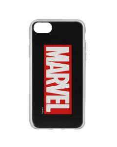 Husa iPhone 8 / 7 / 6 Marvel Silicon Marvel 001 Black