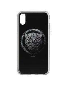 Husa iPhone X Marvel Silicon Black Panther 013 Black