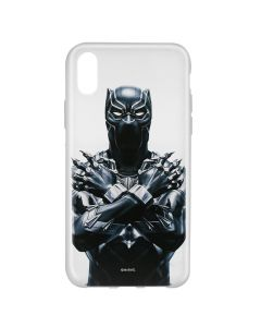 Husa iPhone X Marvel Silicon Black Panther 012 Clear