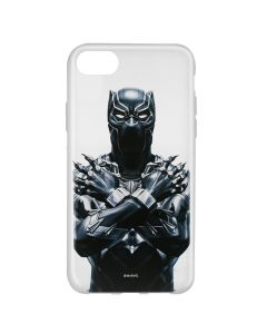 Husa iPhone 8 / 7 / 6 Marvel Silicon Black Panther 012 Clear