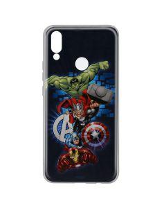 Husa Huawei P20 Lite Marvel Silicon Avengers 001 Navy Blue