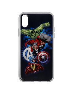 Husa iPhone X Marvel Silicon Avengers 001 Navy Blue