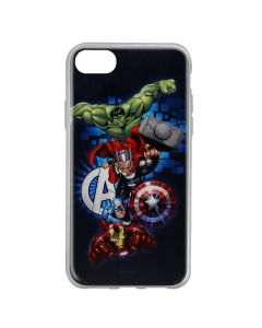 Husa iPhone 8 / 7 / 6 Marvel Silicon Avengers 001 Navy Blue