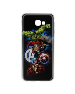 Husa Samsung Galaxy J4 Plus Marvel Silicon Avengers 001 Navy Blue