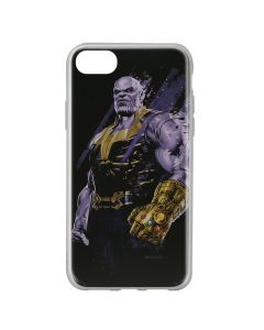 Husa iPhone SE 2 / 8 / 7 Marvel Silicon Thanos 003 Black