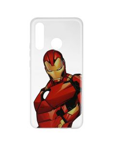 Husa Huawei P30 Lite Marvel Silicon Iron Man 005 Clear