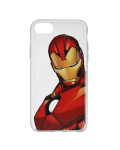 Husa iPhone 8 / 7 / 6 Marvel Silicon Iron Man 005 Clear
