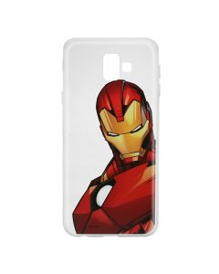 Husa Samsung Galaxy J6 Plus Marvel Silicon Iron Man 005 Clear