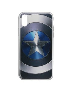 Husa iPhone X Marvel Silicon Captain America 005 Blue