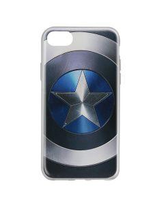 Husa iPhone 8 / 7 / 6 Marvel Silicon Captain America 005 Blue