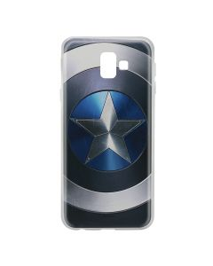 Husa Samsung Galaxy J6 Plus Marvel Silicon Captain America 005 Blue