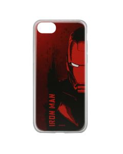 Husa iPhone 8 / 7 / 6 Marvel Silicon Iron Man 004 Red