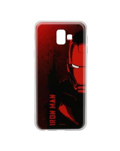Husa Samsung Galaxy J6 Plus Marvel Silicon Iron Man 004 Red