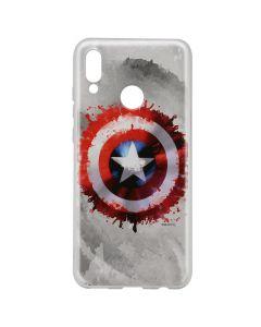 Husa Huawei P20 Lite Marvel Silicon Captain America 019 Gray