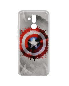 Husa Huawei Mate 20 Lite Marvel Silicon Captain America 019 Gray