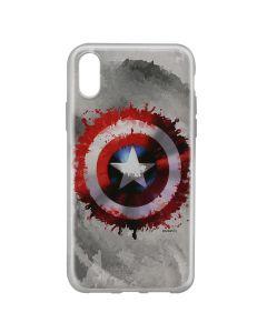 Husa iPhone X Marvel Silicon Captain America 019 Gray