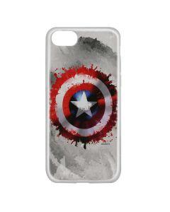 Husa iPhone 8 / 7 / 6 Marvel Silicon Captain America 019 Gray
