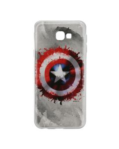 Husa Samsung Galaxy J4 Plus Marvel Silicon Captain America 019 Gray