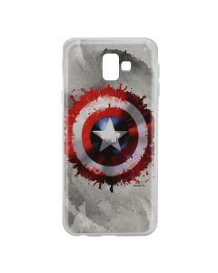 Husa Samsung Galaxy J6 Plus Marvel Silicon Captain America 019 Gray