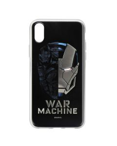 Husa iPhone X Marvel Silicon War Machine 001 Silver