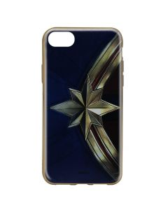 Husa iPhone 8 / 7 Marvel Silicon Captain Marvel 001 Gold
