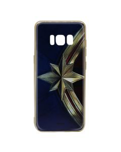 Husa Samsung Galaxy S8 G950 Marvel Silicon Captain Marvel 001 Gold