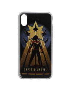 Husa iPhone X Marvel Silicon Captain Marvel 002 Navy Blue