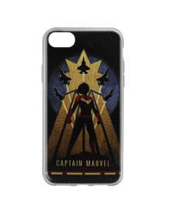 Husa iPhone 8 / 7 / 6 Marvel Silicon Captain Marvel 002 Navy Blue