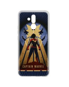 Husa Huawei Mate 20 Lite Marvel Silicon Captain Marvel 002 Navy Blue
