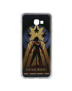 Husa Samsung Galaxy J4 Plus Marvel Silicon Captain Marvel 002 Navy Blue
