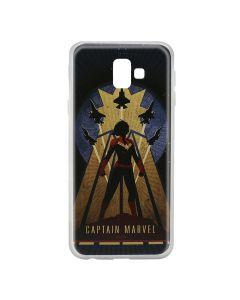 Husa Samsung Galaxy J6 Plus Marvel Silicon Captain Marvel 002 Navy Blue