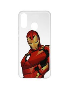 Husa Samsung Galaxy A20e Marvel Silicon Iron Man 005 Clear