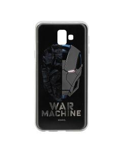 Husa Samsung Galaxy J6 Plus Marvel Silicon War Machine 001 Silver