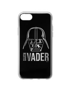 Husa iPhone 8 / 7 Star Wars Silicon Luxury Darth Vader 010 Silver